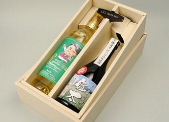 スーパー酒屋『竜太ワイン(白)。そば焼酎竜太のセット』