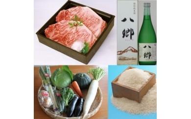 602 地酒と和牛ステーキと季節の野菜と伯耆町産米