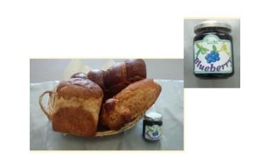 朝食セット(ブルーベリージャム&パンの詰め合わせ)