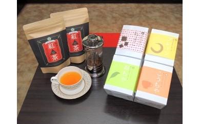 ロールケーキと紅茶セット