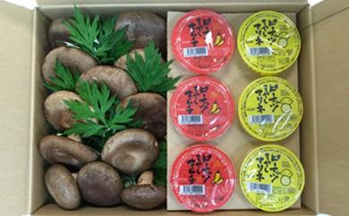 B12 ★農薬はNO★椎茸とピーナッツもやしのキムチとマリネ・セット