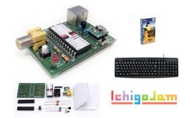 【3P】ITのまちさばえ★プログラミング専用こどもパソコン『IchigoJam  組み立てセット』 G00305