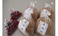 笹味噌 1kg 4袋、梅干し2袋