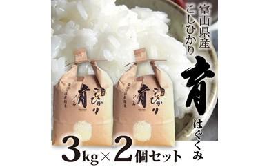 2 富山県産コシヒカリ 育(はぐくみ) 白米2個セット