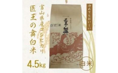 3 富山県産コシヒカリ 医王の舞 白米4.5㎏