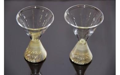 B-3 村田町在住のガラス作家作品 「月の杯」