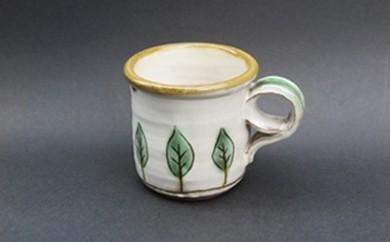 B33 裕翠(ゆうすい)窯 二彩マグカップ