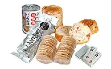 D-002 災害時の備蓄品に こだわり草加煎餅と非常食2箱セット