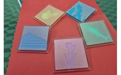 ㉕特殊ガラス加工品(装飾ガラス5枚セット)