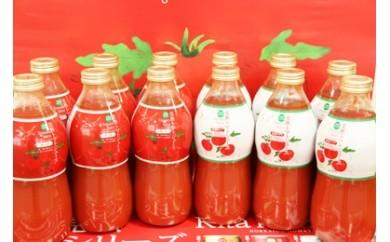 【100-10】トマト定期便(無塩・有塩)【有塩840ml瓶×6+無塩840ml瓶×6×4か月】