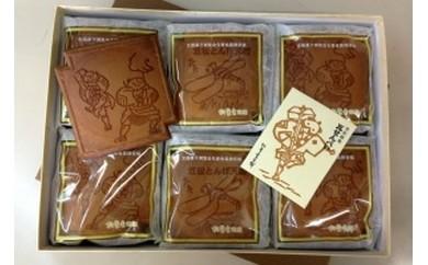 【0603】笠松名物 瓦せんべい(2枚入6袋、3枚入6袋)