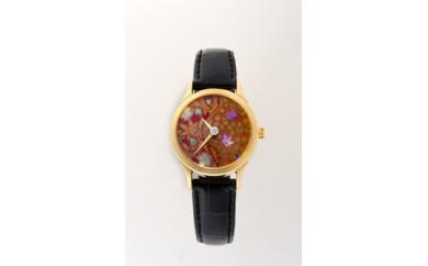 [B60]蒔絵(まきえ)時計 女性用