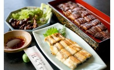 鰻三昧!「うなぎ処はちすか」の蒲焼、白焼、肝焼、三種セット