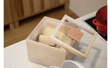 E0724 【米びつ(桐製)+お米セット】米びつ<5kgタイプ>+古賀で育ったおいしいお米<5kg>