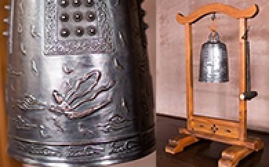 [№5691-0060]砂張製天女鐘(掛台付き)