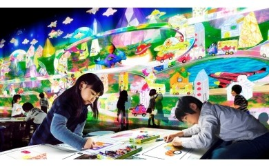 A27 ららぽーと富士見内 チームラボ 学ぶ!未来の遊園地 1DAYパス(2枚組)