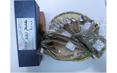 1-(9).安芸の晩酌セット(日本酒1本、干物)