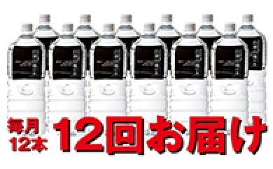 [№5645-0036]白神山地の水2L×12本 12回お届け