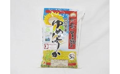 A002 【お米5kg】ゆめぴりか 低農薬米