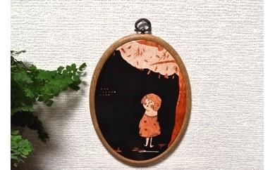 15-EE-1 江リコの絵 イラスト(楕円フレーム)