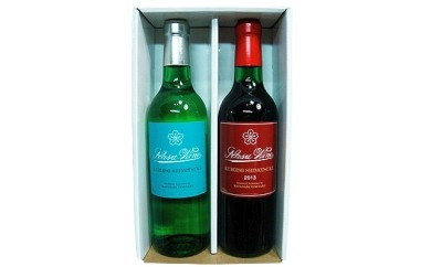 360ml赤白ワイン2本セット