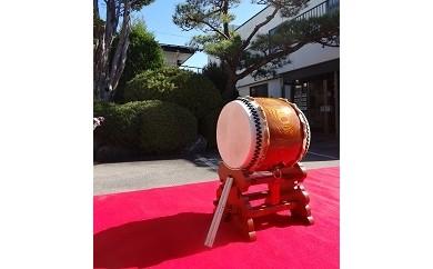 115-003 栓欅胴尺3寸長胴太鼓(宮台・バチ付)