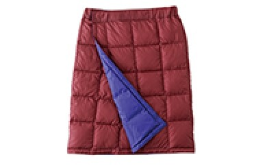 [№5694-0038]NANGA マウンテンスカート(プラム×コバルト) Lサイズ