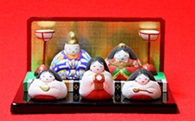 [№5739-0020]豆5人揃い雛人形