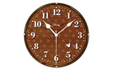 [№5748-0003]ナカザワオリジナル ディズニー掛時計(ブラウン)