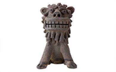 [№5747-0002]陶製シーサー