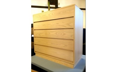 群馬県ふるさと伝統工芸士製作の木目調純国産桐箪笥5段