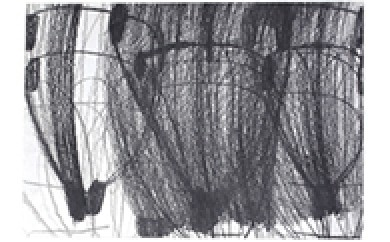 [№5748-0029]アール・ブリュット作品(絵画)『うちわ (木村茜 作)』