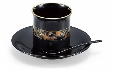 輪島塗 コーヒーカップ(四季草花蒔絵)