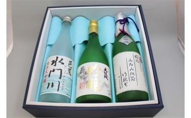 大垣の地酒セット(大吟醸、吟醸、純米大吟醸 各1本)