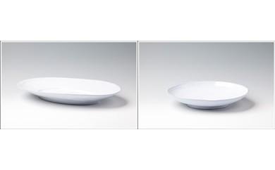 やま平窯 フランスシリーズ オーバル皿&パスタ皿セット