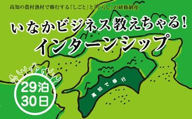 Na-01 田舎暮らししたい若者を29泊30日インターンシップさせてあげる寄付チケット(1名様ご招待)