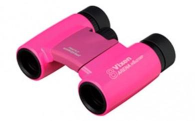 [№5659-0187]ビクセン「双眼鏡アリーナ H 8×21 WP(ピンク)」