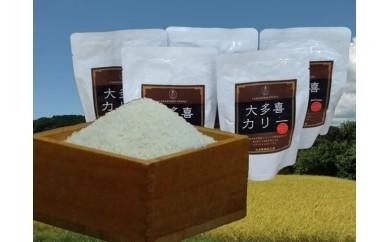 A35 コシヒカリ精米5㎏・大多喜カリー5個
