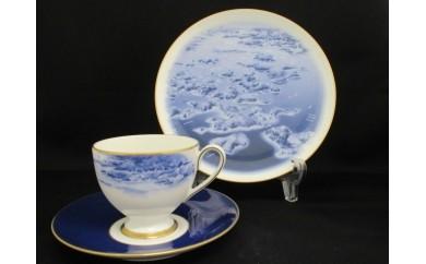 ≪NARUMI≫【英虞湾】絵皿&1客碗皿