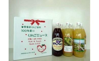 27-B006 青森県産ジュース6本セット(りんご5本・スチューベン1本) 【2pt】