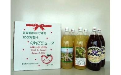 27-B005 青森県産ジュース6本セット(りんご4本・スチューベン2本) 【2pt】