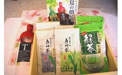 №301 白川茶と冷茶器セット