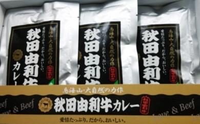 [№5685-0143]秋田由利牛 カレー(5箱セット)