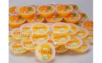 №125-22デコポンゼリー、甘夏KISSセット(48個)【お中元対応商品】