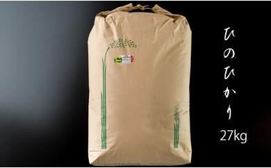 D-18 特別栽培米 ひのひかり 27kg(白米)