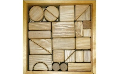 木箱入り積み木セット(中)