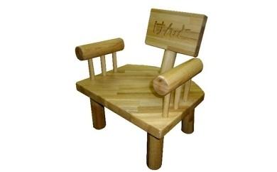 手すり付き子供椅子