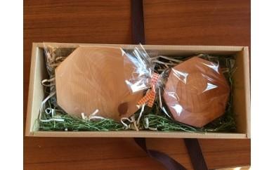 【1-60】木製食器 豆皿と茶托