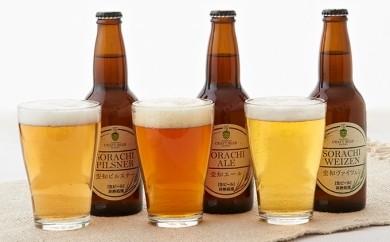 [№5641-0131]大雪地ビール 滝川クラフトビール3種飲み比べ