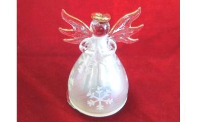 001-002 < 18弁オルゴール > ガラス製天使 (オルゴール内蔵)